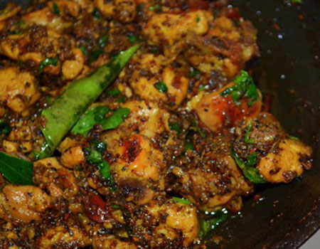 Mutton Pepper Fry (Mutton Milagu Varuval)