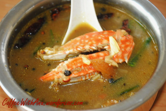 Chettinad Nandu Soup (Crab)